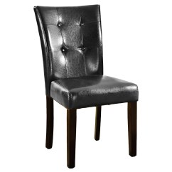 Black Leather Chair Dining Nash Accessories Chairs Furniture Ebay