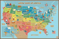 Wall Pops WPE0623 Kids USA Dry Erase Map Decal Wall Decals ...