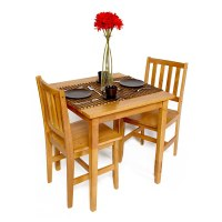Table and Chairs Set Dining Bistro Small Cafe Tables Wood ...