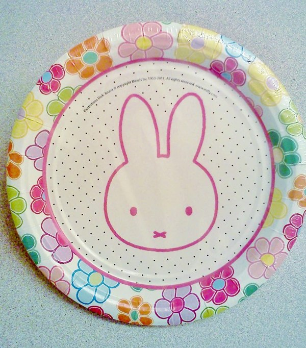 Easter Plates for Birthday Party