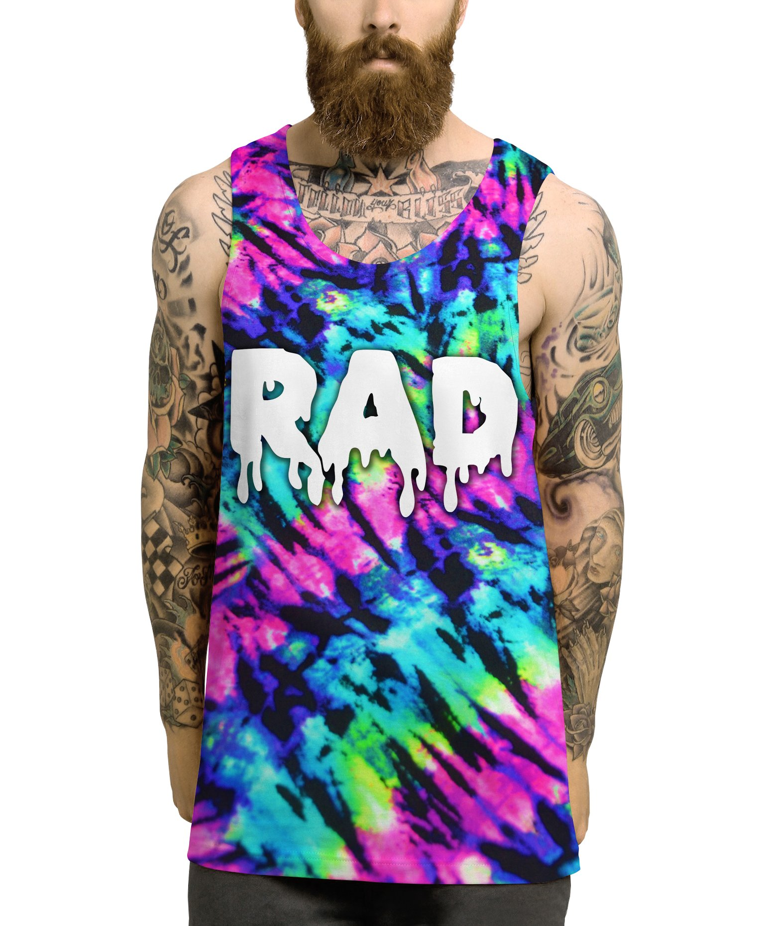 Inct Men's Rad Festival EDM Party All Over Print Vest