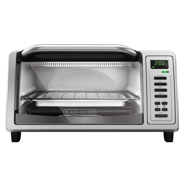 Black And Decker To1380ss 4-slice Toaster Oven Platinum
