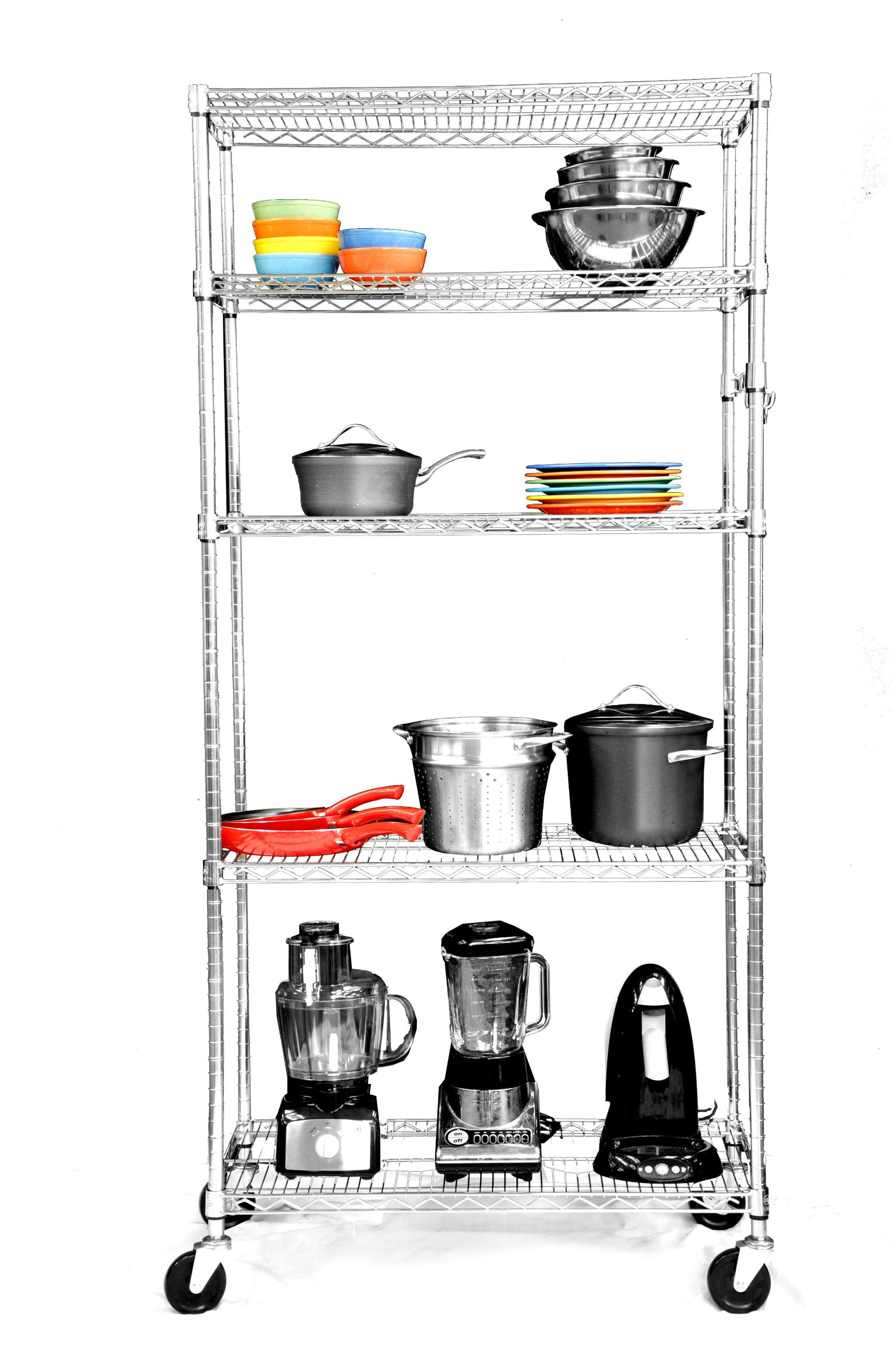 Trinity Ecostorage 5 Tier Nsf Wire Shelving Rack With