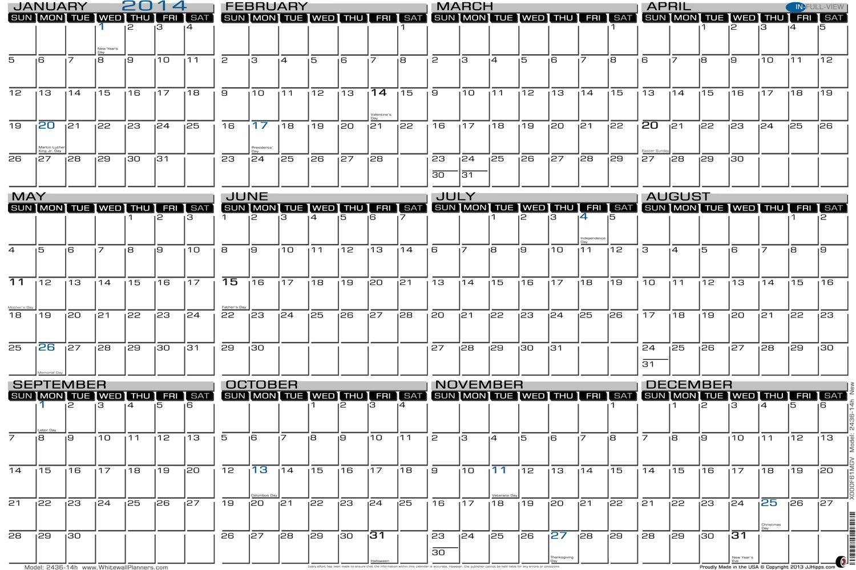 Yearly Attendance Calendar