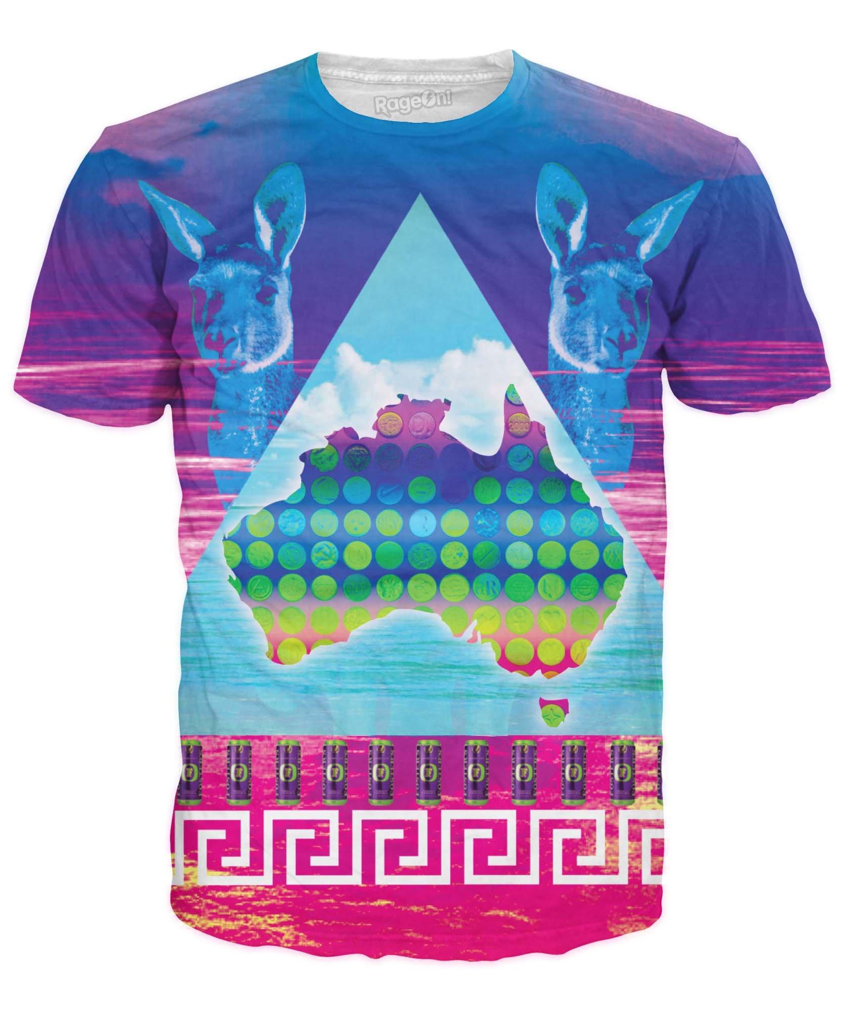RageOn Men's Australian Ecstasy T-Shirt