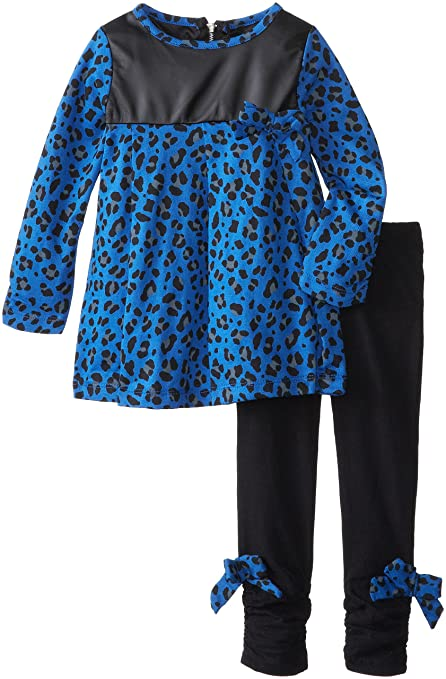 A.B.S. by Allen Schwartz Little Girls' Isabella Set, Blue/Black, 2T
