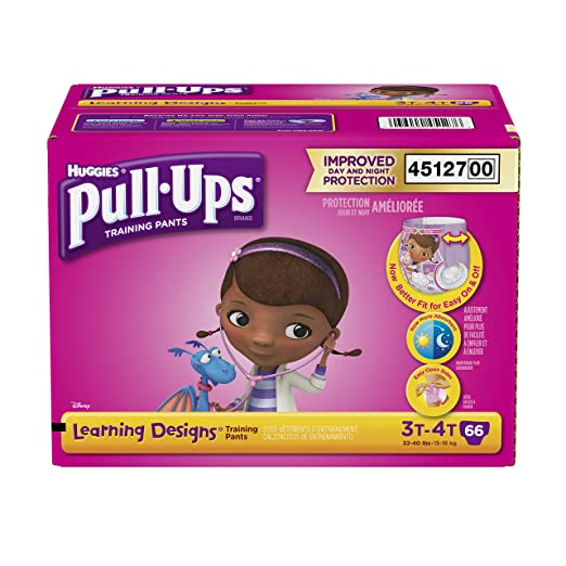 Pull-Ups Learning Designs Training Pants for Girls, Size 3T-4T, 66 Count