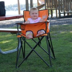 Portable High Chair Baby Rocking Chairs Cracker Barrel Ciao Orange Highchair Perfect For Travel