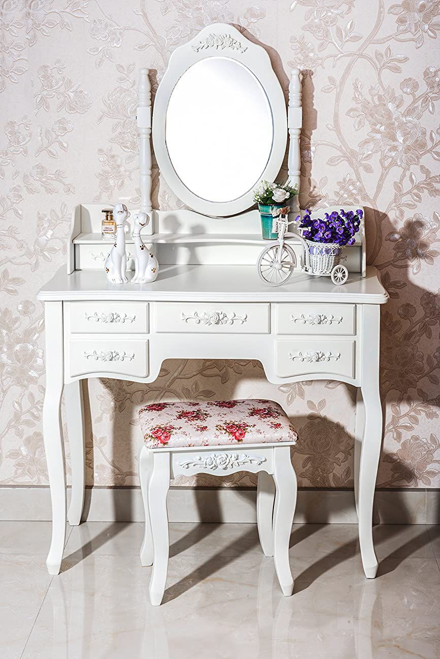 Beautiful White Label Cleopatra Vintage Vanity Table 7