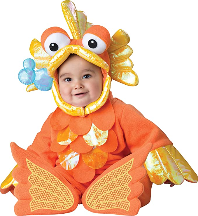 InCharacter Costumes Baby's Giggly Goldfish Costume, Orange, X-Small