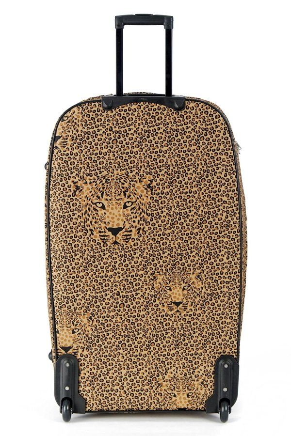 Leopard Animal Print Suitcase Set Womens Hand Luggage