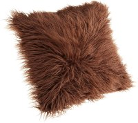 Brentwood Mongolian Chocolate Brown Faux Fur Pillow ...