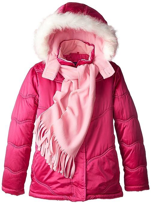 Rothschild Big Girls' Puffer Jacket, Pink Vibe, Small/7/8