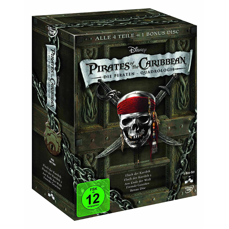 Pirates of the Caribbean - Die Piraten-Quadrologie [5 DVDs]; ca. 29 Euro