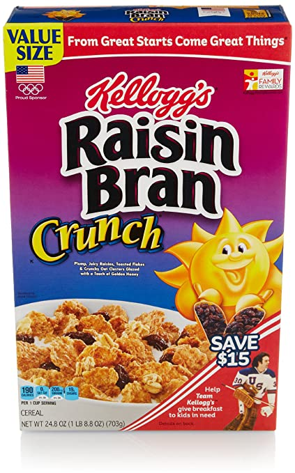 Raisin Bran Crunch Cereal, 24.8 Oz