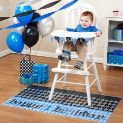 High Chair For Boy 6 Person Table And Set Boys First Birthday Party Kits Wikii