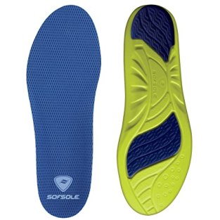 Sof Sole Athlete Full Length Comfort Neutral Arch Replacement Shoe Insole/Insert for Men and Women