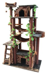 Kitty Mansions Amazon Cat Tree, Green/Brown