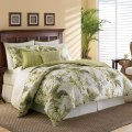 Green palm trees comforter sets beach themed bedding