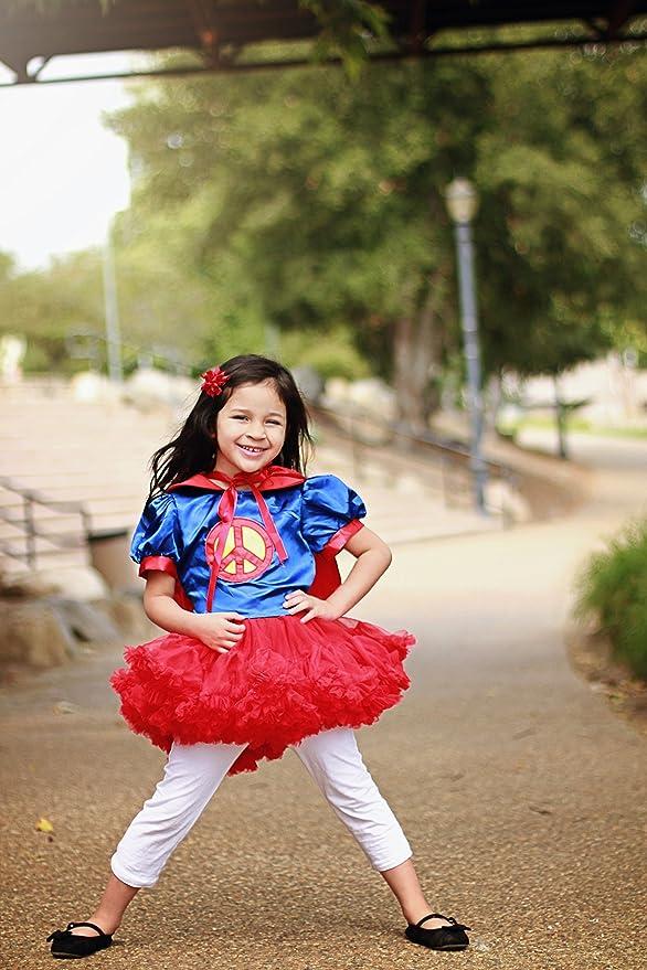 Girls Superman Costume Tutu Dresses with Cape (2 Years)