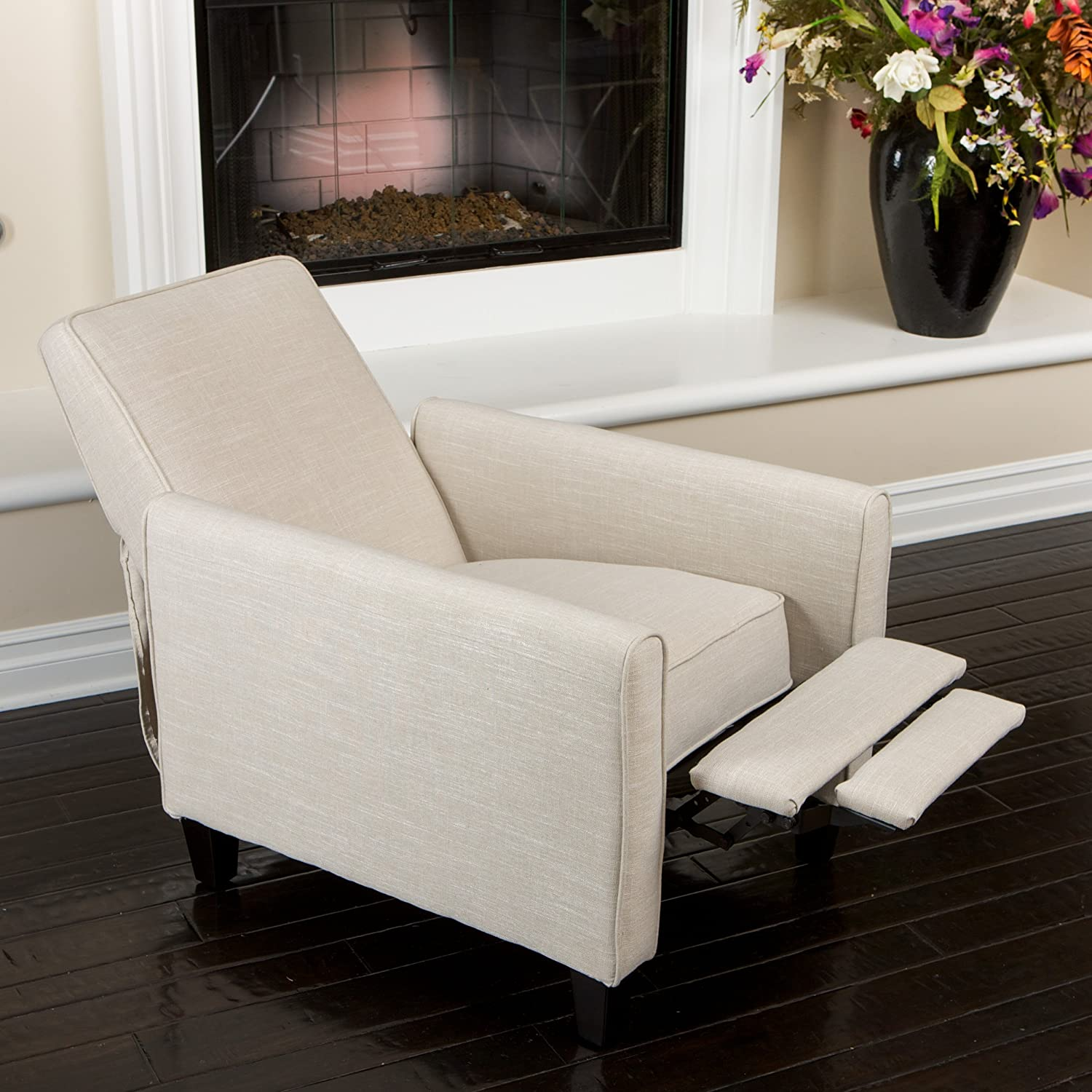 darvis leather recliner club chair brown christopher knight home ikea mellby covers 224737 lucas saving