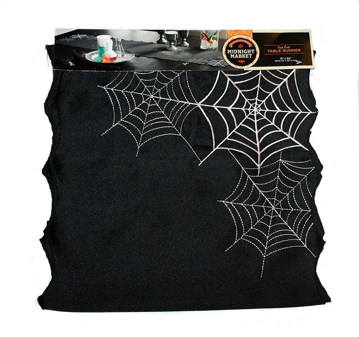 The Midnight Market Spider Web Cut Out Table Runner