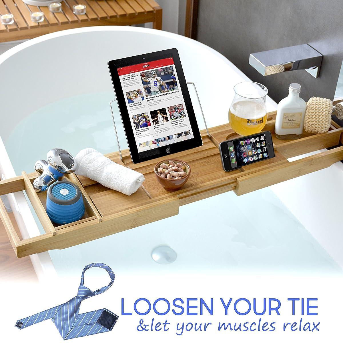 ELITE CREATIONS Bathtub Caddy  Laptop Bed Desk  2 In 1