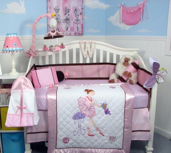 Ballerina Crib Bedding - Totally Kids Bedrooms