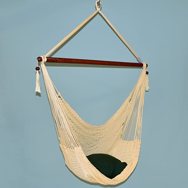 Caribbean Hammocks Polyester Hanging Chair, 48 Inc, Cream Review