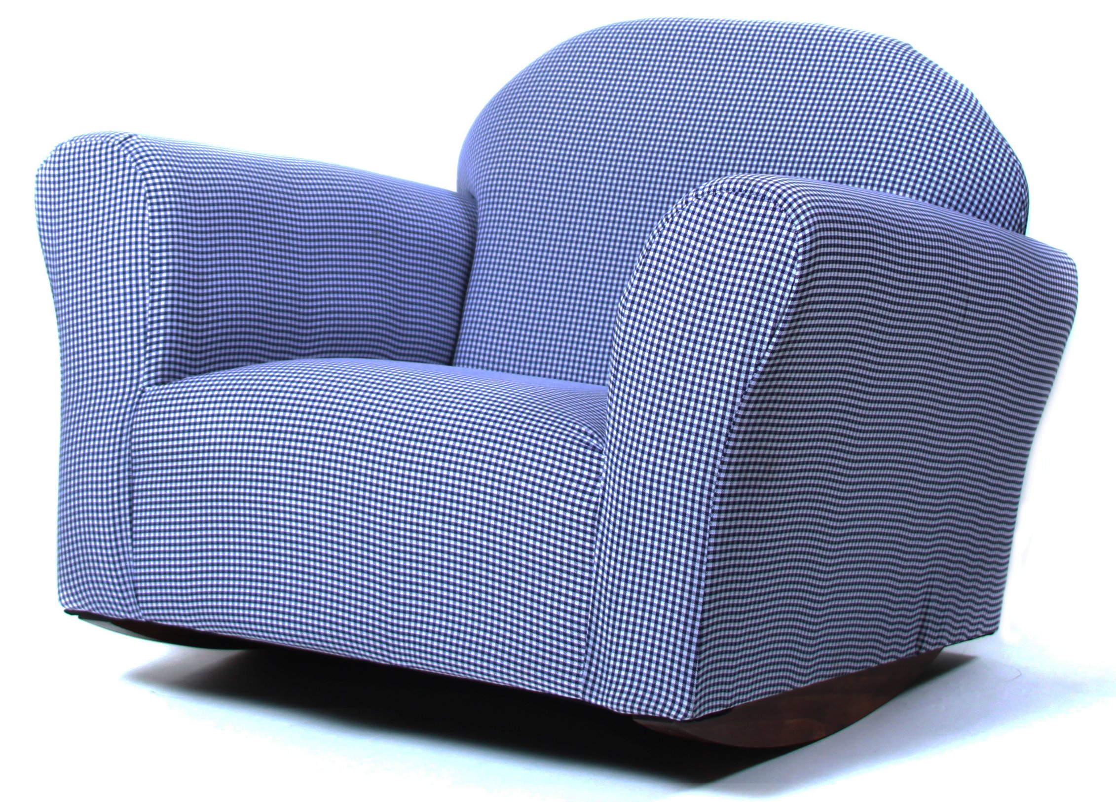 Gingham Chair Rocking Chair Gingham Navy Fantasy Furniture Roundy Glider