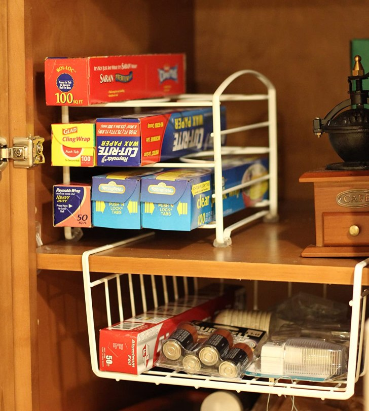 Details New Decobros Kitchen Wrap Organizer Rack White