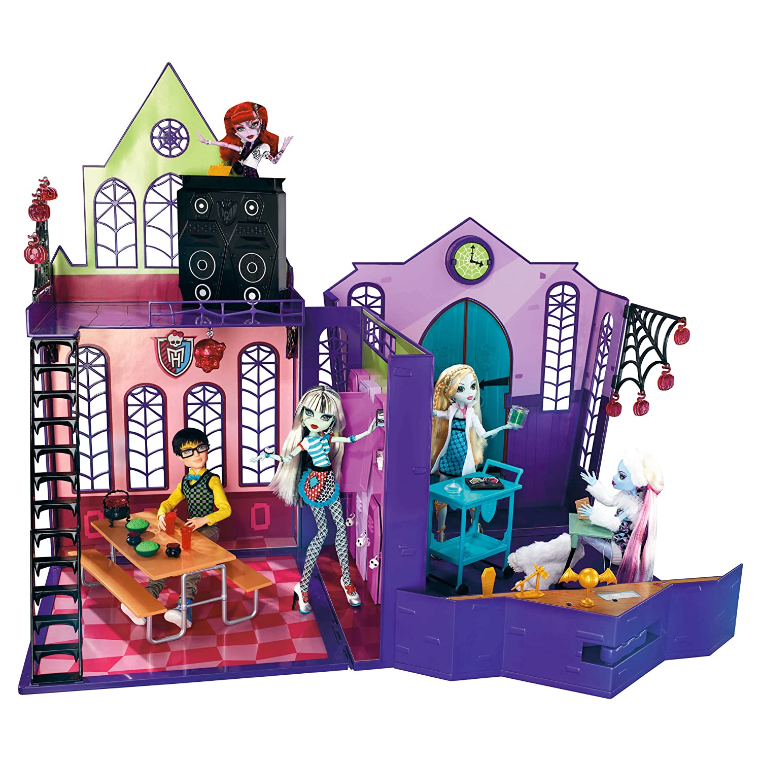 Monster High House School Play Set Dolls Ghouls Rule