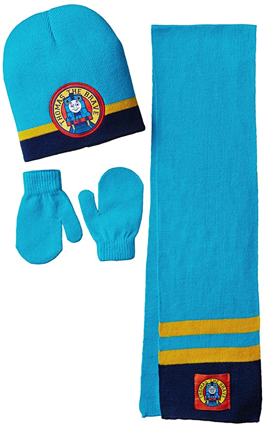 Berkshire Little Boys' 3 Piece Thomas The Tank Engine Beanie Mitten and Scarf Set, Multi, One Size