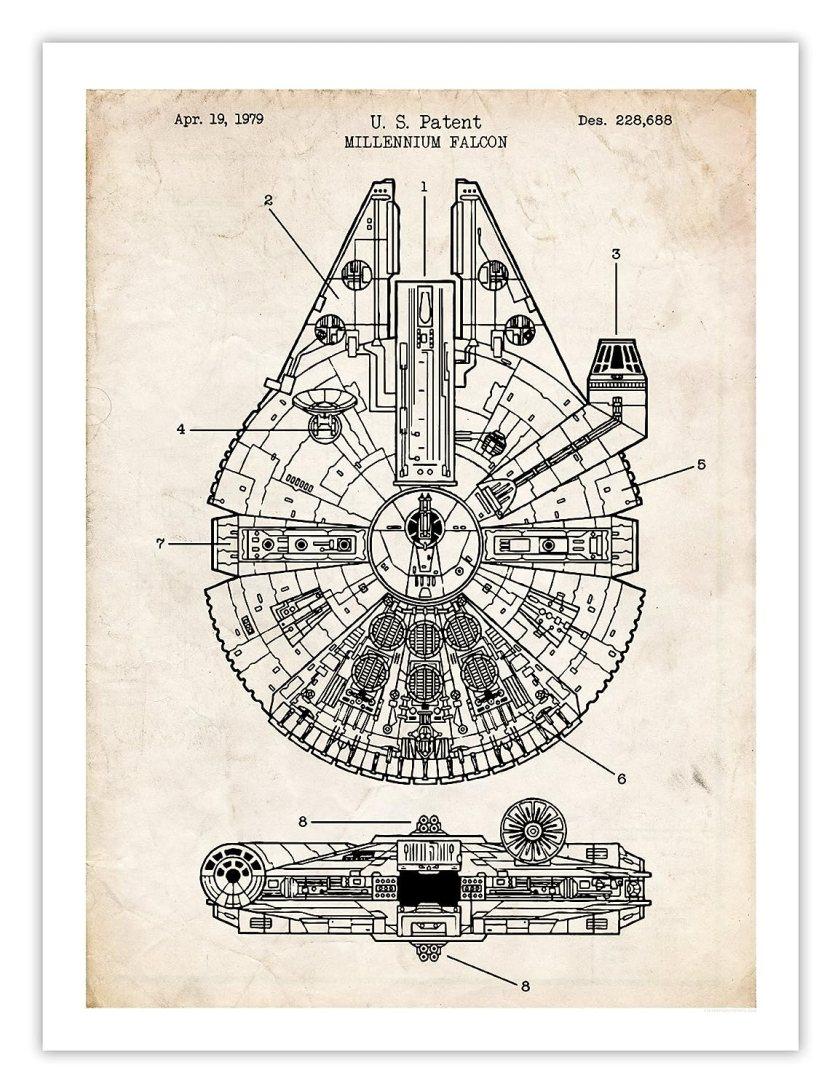 Star Wars Decor Items: The Falcon print