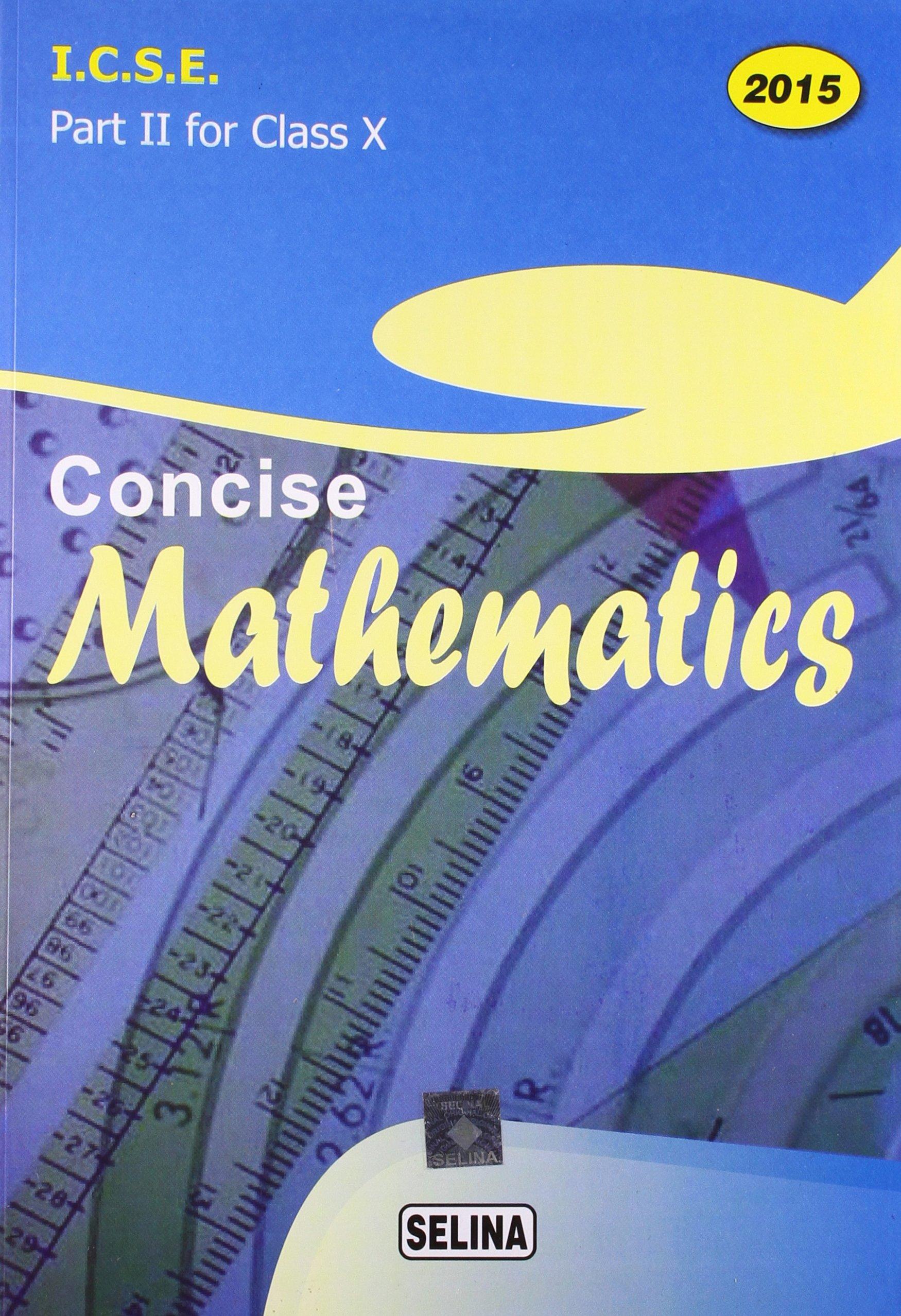 Class 8 Icse Maths Book