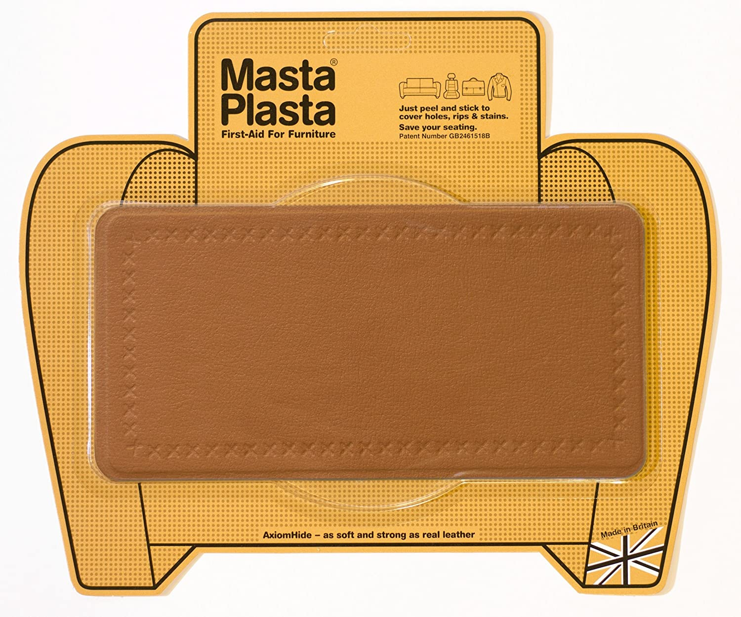 how to repair small hole in leather sofa brown color aid peel stick mastaplasta patch for holes