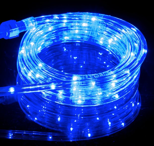 Blue LED Rope Light Outdoor