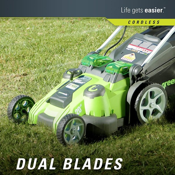 20 Cordless Twin Force Lawn Mower Greenworks - Year of Clean