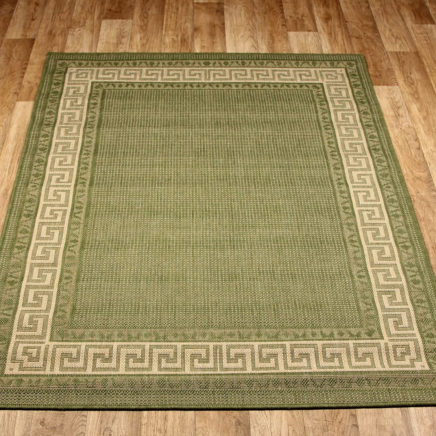 kitchen carpet runner cheap chairs green non slip hall rugs greek flatweave