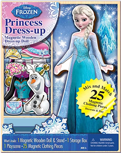 Bendon Disney Frozen Elsa Wooden Magnetic Playset (25-Piece)