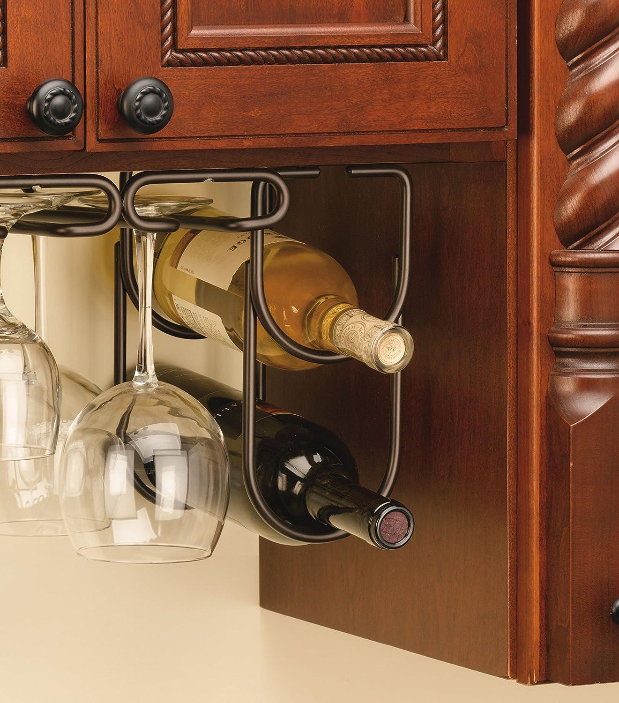 Under Cabinet Double Wine Bottle Rack Holder Oil Rubbed Bronze Storage Organize  eBay