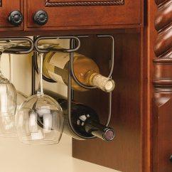 Under Cabinet Shelving Kitchen Antique Faucets Double Wine Bottle Rack Holder Oil Rubbed