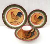 Rooster Dinnerware Shop - Everything Log Homes
