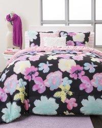 Seventeen Comforter Set Full/Queen Watercolor Midnight ...