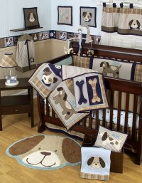 Sumersault Show Doggies Baby Bedding Collection - Baby ...
