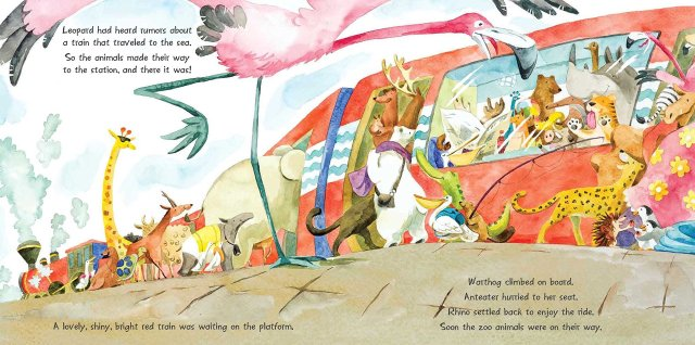 Interior page from The Race to the Beach by Anna Shuttlewood.