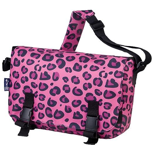 Wildkin Jumpstart Messenger Bag, Pink Leopard