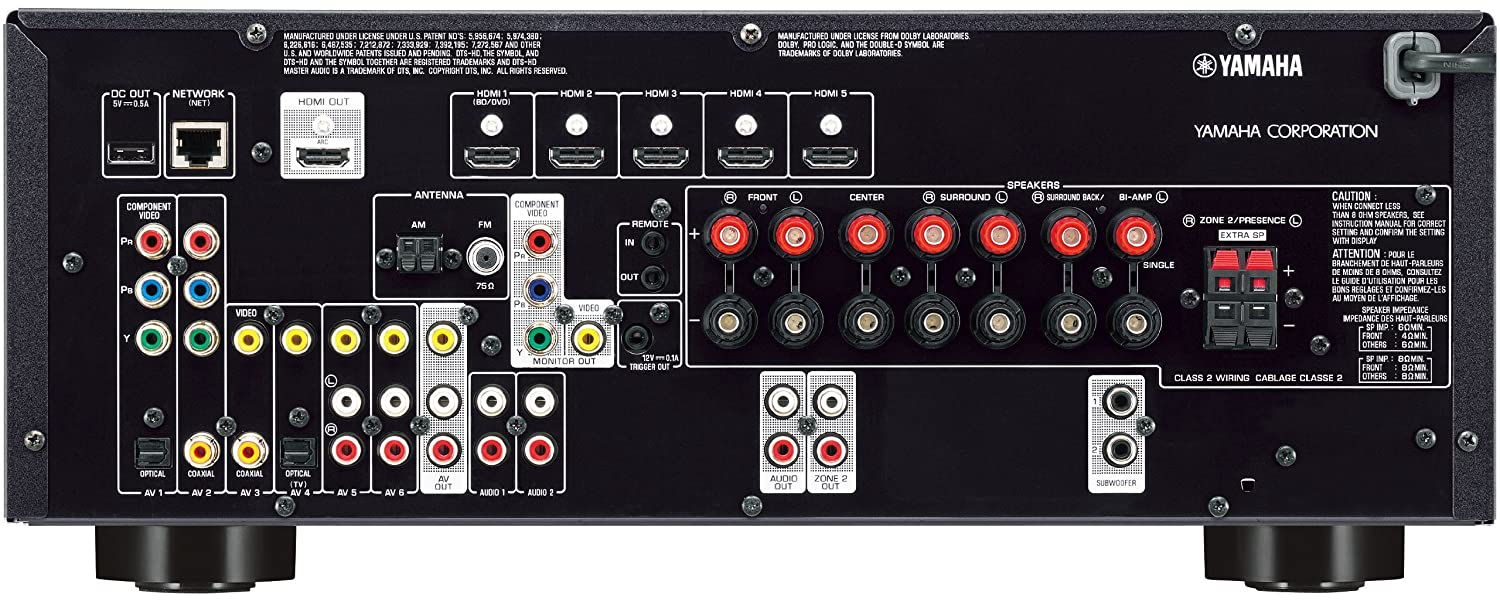 Component Speakers To Amp Wiring Diagram Connecting Wii To Yamaha Rx V673 Receiver Forums Cnet