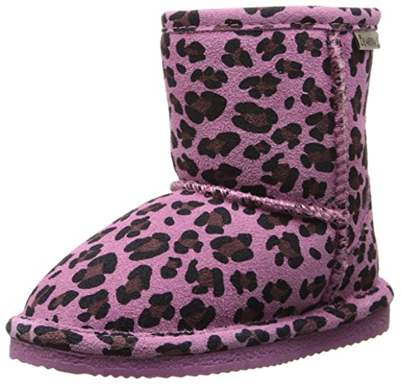 BEARPAW Eva Boot (Toddler/Little Kid/Big Kid),Pink Leopard/Chocolate,7 M US Toddler