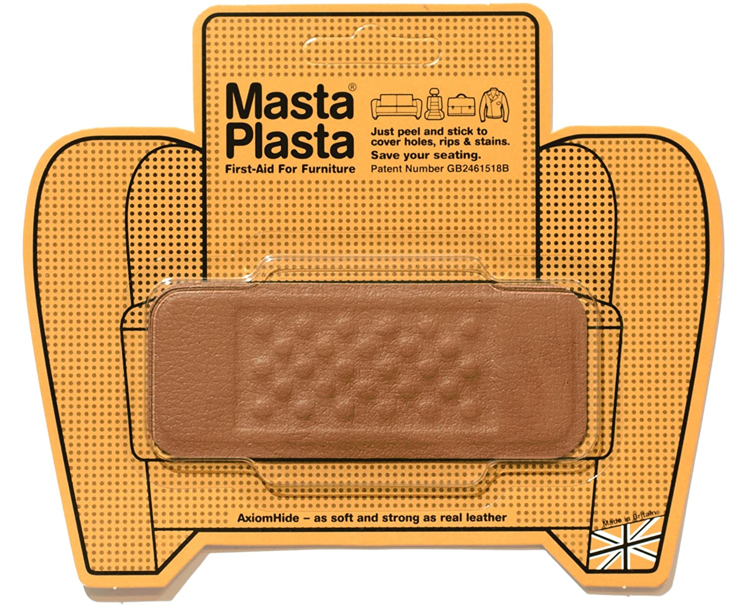 how to repair leather sofa springs low cost set online aid peel stick mastaplasta patch for holes